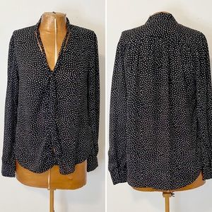 Lulu's On the Spot Polka Dot Button-Up Top